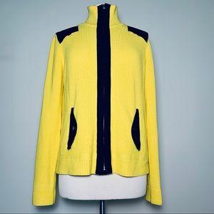 Ralph Lauren Active Yellow Zip Sweater